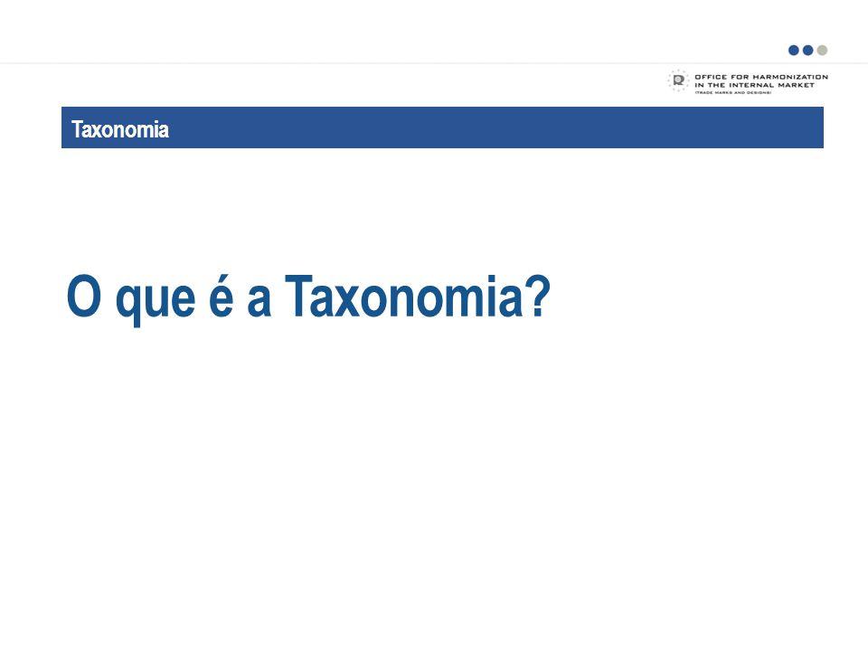 Taxonomia A finalidade