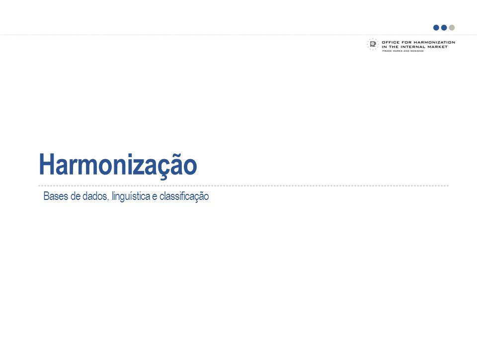 Harmonização O projeto HARMONIZAÇÃO IHMI, Reino Unido e Suécia – o grupo diretor inicial Acompanhado pela Alemanha e pela OMPI na qualidade de observadores Inglês como língua de base 5