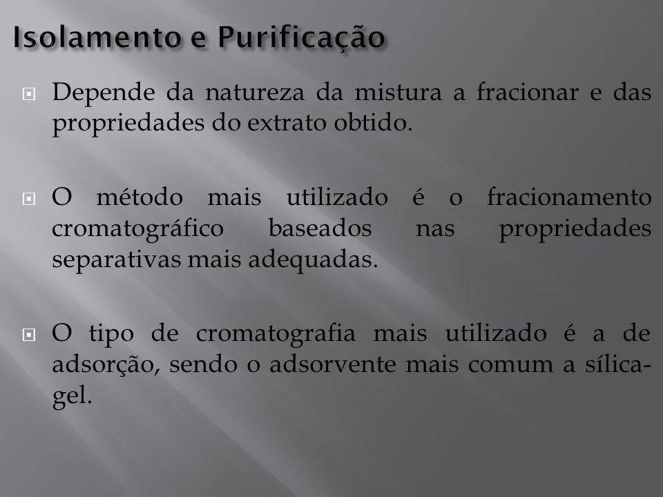  Depende da natureza da mistura a fracionar e das propriedades do extrato obtido.