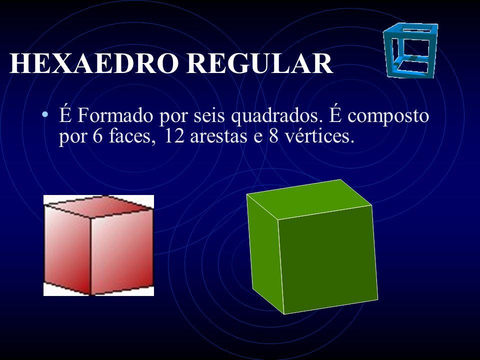 OCTAEDRO REGULAR • Formado por oito triângulos eqüiláteros.