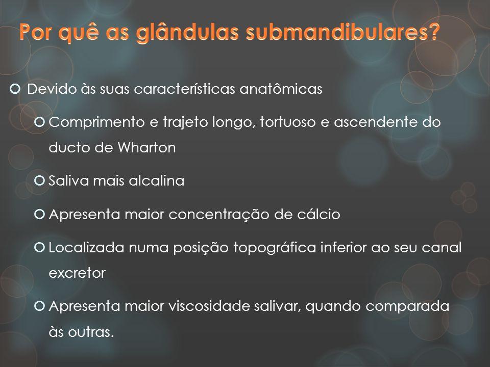  Rara incidência na glândula sublingual:  ducto curto e com múltiplas aberturas, capazes de drenar a saliva de forma mais eficiente.