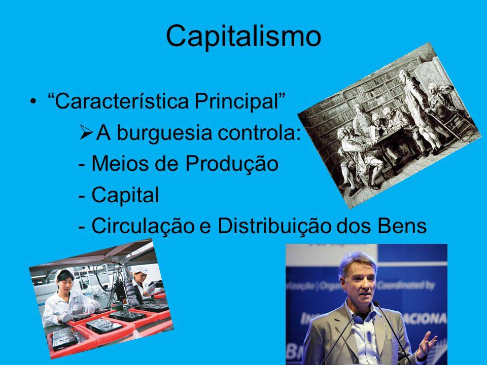 Capitalismo •Sistema Socio-Econômico Sociedade e Economia