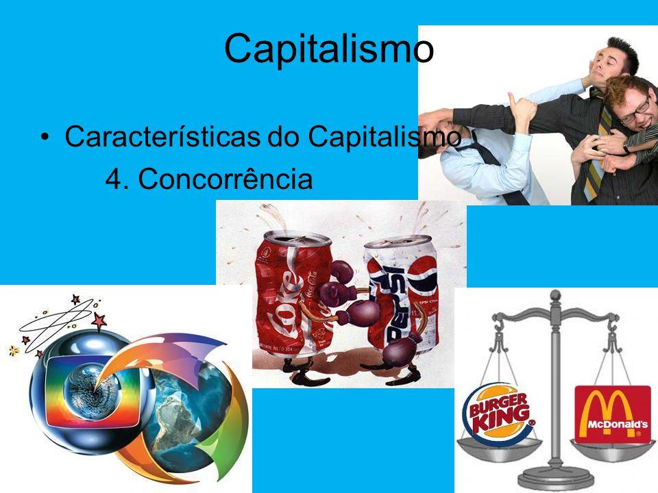 Capitalismo •Características do Capitalismo 3. Lei da Oferta e da Procura Os preços variam de acordo com a quantidade disponível e a procura