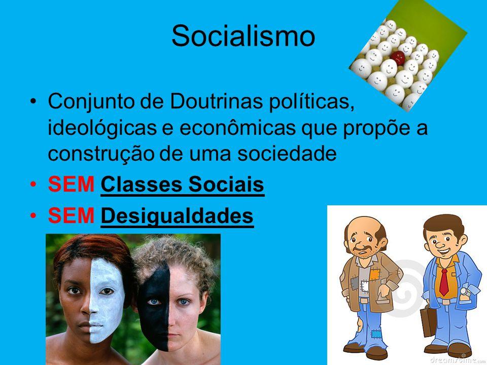 Socialismo •Sistema Socio-Econômico Sociedade e Economia