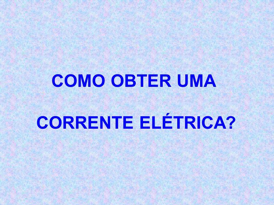 CORRENTE ELÉTRICA - É O MOVIMENTO ORDENADO DOS ELÉTRONS NO INTERIOR DE UM CONDUTOR. SÍMBOLO - I (Intensidade de Corrente Elétrica) UNIDADE - AMPÈR ( A