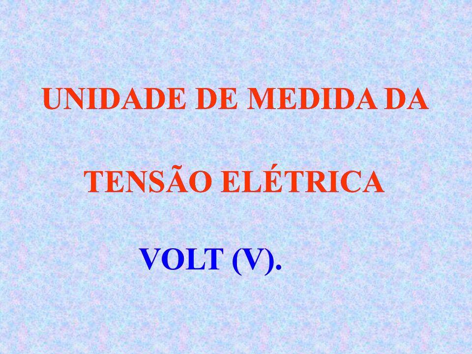 À PRESSÃO EXERCIDA SOBRE OS ELÉTRONS, CHAMAMOS DE TENSÃO ELÉTRICA OU ddp (Diferença de potencial). À PRESSÃO EXERCIDA SOBRE OS ELÉTRONS, CHAMAMOS DE T