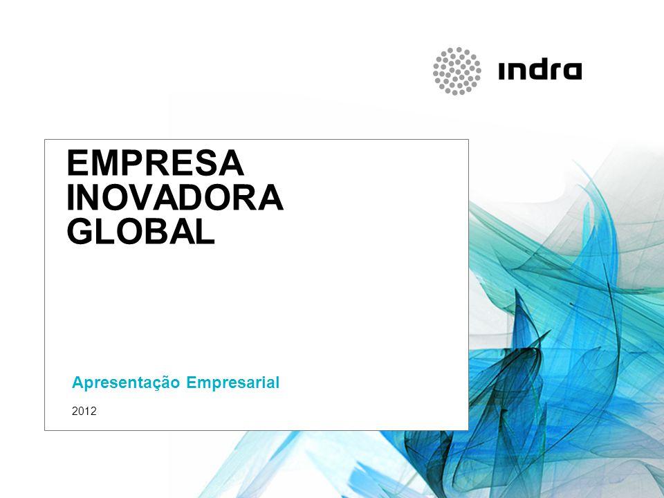 Presentación corporativa 1 QUEM SOMOS INDRA Multinacional de TI número 1 em Espanha e das principais da Europa e da America-Latina 36.000 profissionais118 países2.688 M€ vendas Tecnologia própria I+D+i: 7%-8% vendas Modelo de negocio diferencial baseado na Inovação