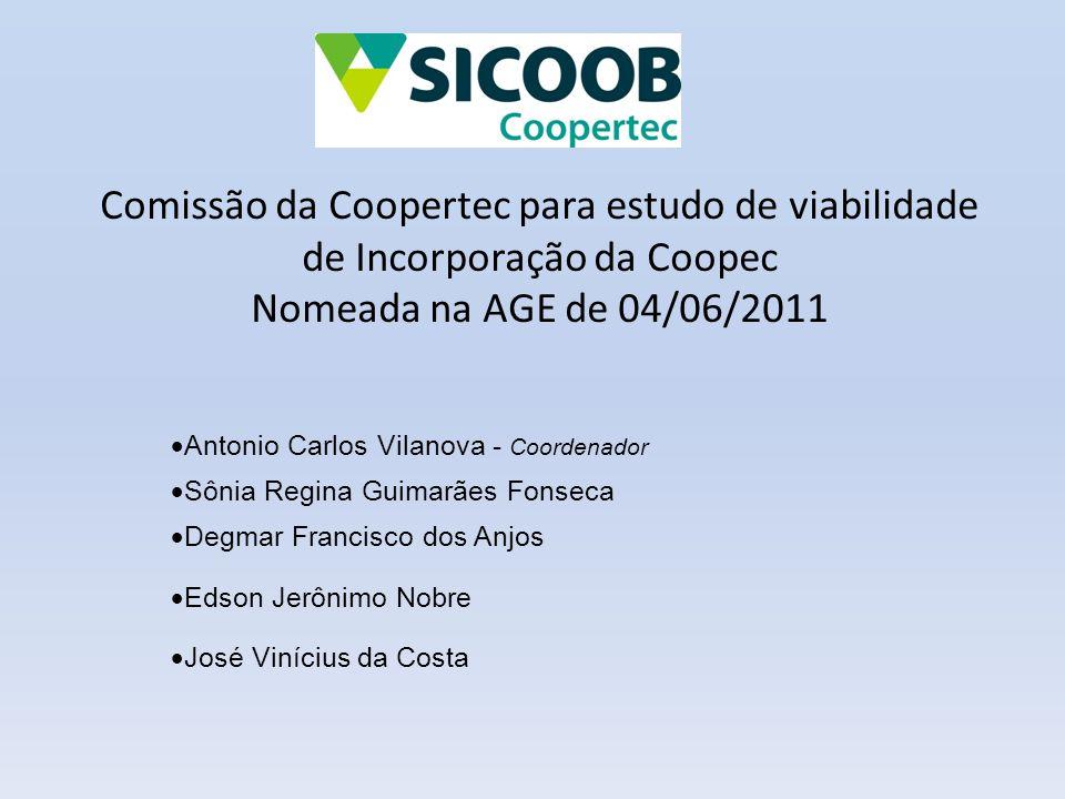 Comissão da Coopertec para estudo de viabilidade de Incorporação da Coopec Nomeada na AGE de 04/06/2011  Antonio Carlos Vilanova - Coordenador  Sôni