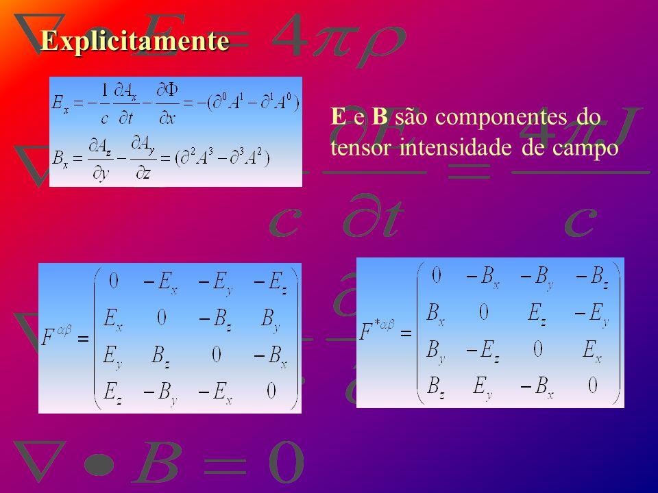 Equação de onda para o potencial vetor A e o potencial escalar  Laplaciano quadridimencinal invariante Com a condição de Lorentz Componentes de um qu