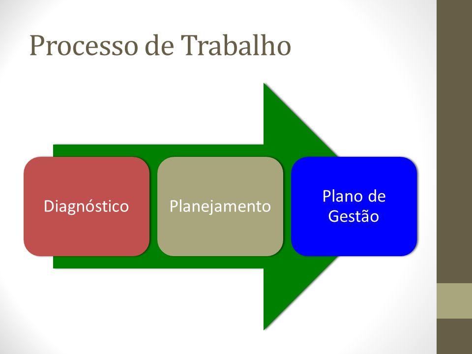 Processo de Trabalho DiagnósticoPlanejamento Plano de Gestão