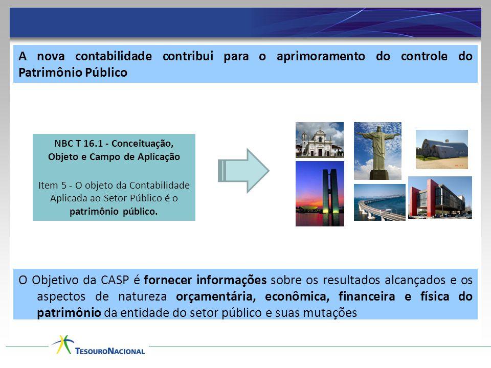 A nova contabilidade contribui para o aprimoramento do controle do Patrimônio Público O Objetivo da CASP é fornecer informações sobre os resultados al