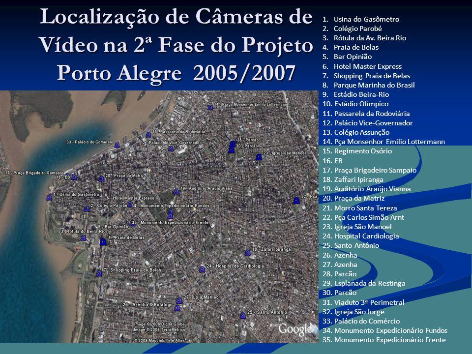 Localização de Câmeras de Vídeo na 2ª Fase do Projeto Porto Alegre 2005/2007 1.
