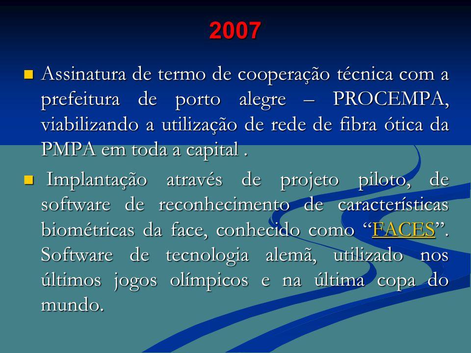  Assinatura de termo de cooperação técnica com a prefeitura de porto alegre – PROCEMPA, viabilizando a utilização de rede de fibra ótica da PMPA em toda a capital.