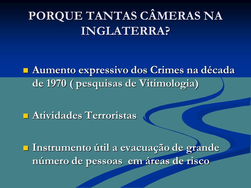 EXPERIÊNCIA GAÚCHA Até 2003 INICIATIVAS ISOLADAS  1997  Empresa do Ramo de CFTV empresta Câmeras para 9º Batalhão de Polícia Militar durante 3 meses.