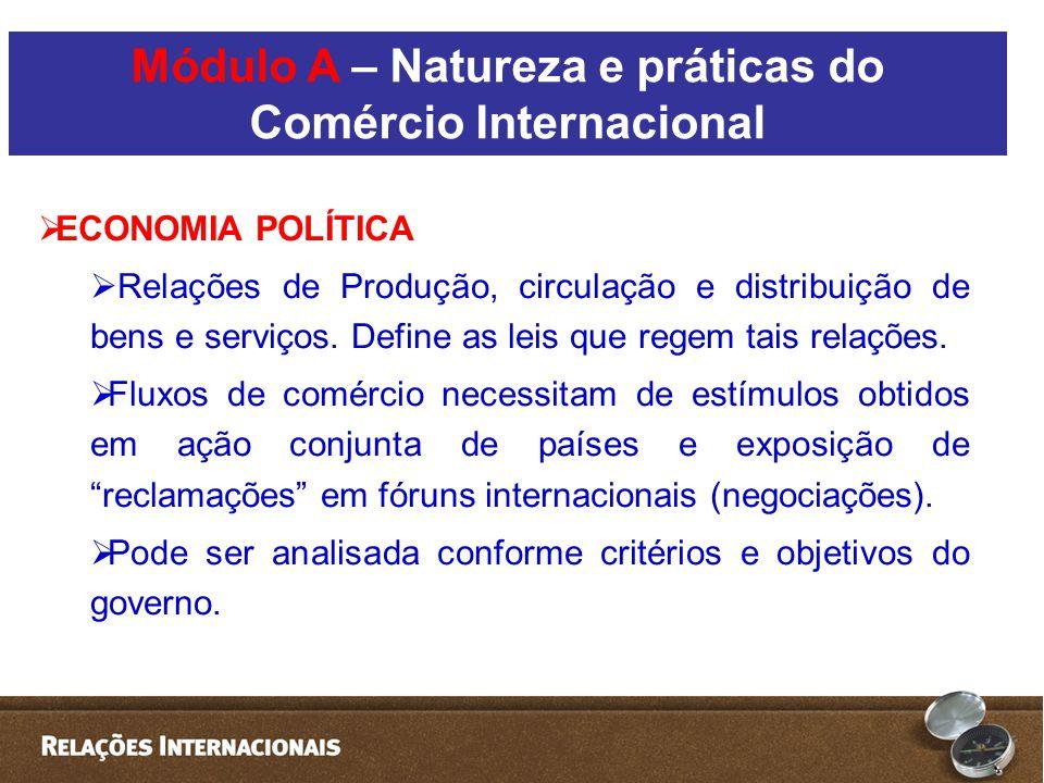  ECONOMIA POLÍTICA  Relações de Produção, circulação e distribuição de bens e serviços.