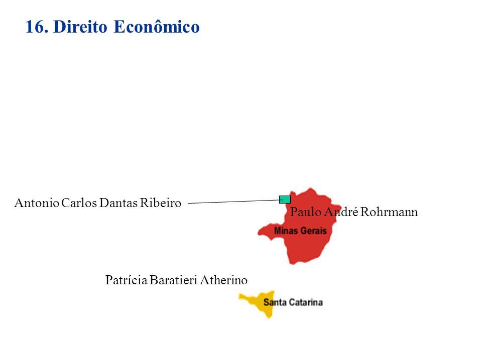 16. Direito Econômico Patrícia Baratieri Atherino Antonio Carlos Dantas Ribeiro Paulo André Rohrmann