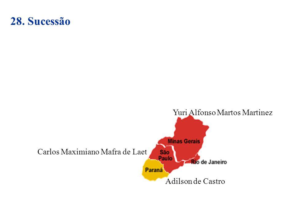 28. Sucessão Yuri Alfonso Martos Martinez Carlos Maximiano Mafra de Laet Adilson de Castro