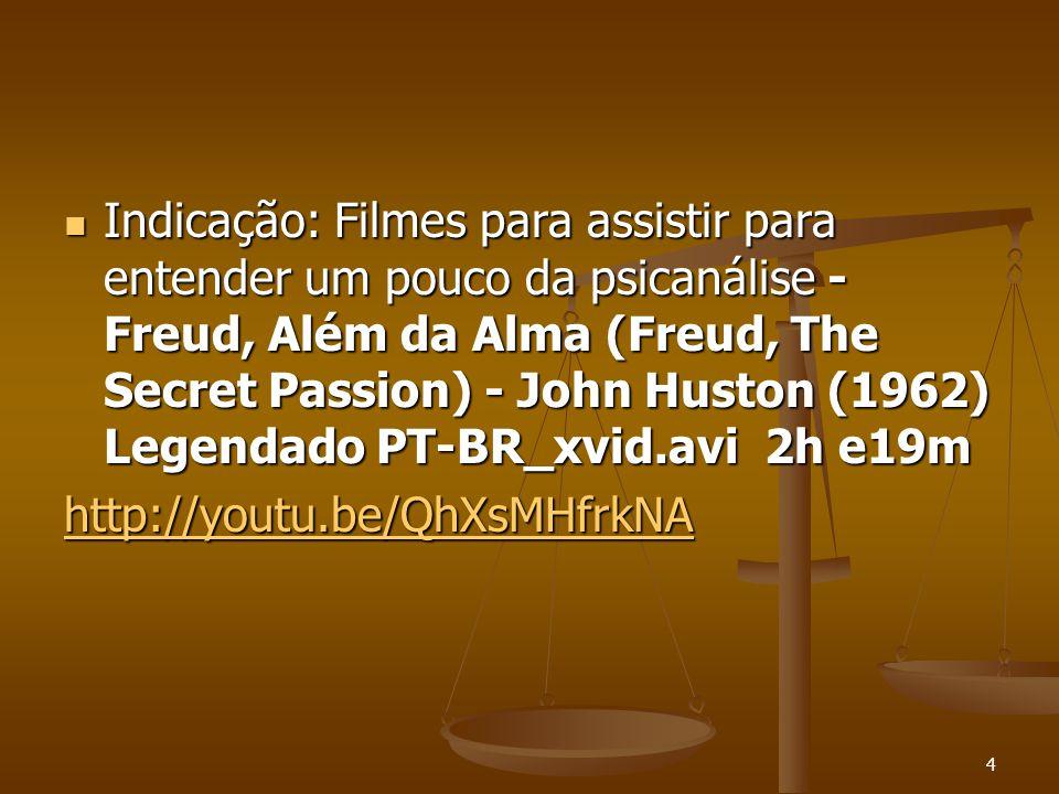 4  Indicação: Filmes para assistir para entender um pouco da psicanálise - Freud, Além da Alma (Freud, The Secret Passion) - John Huston (1962) Legen