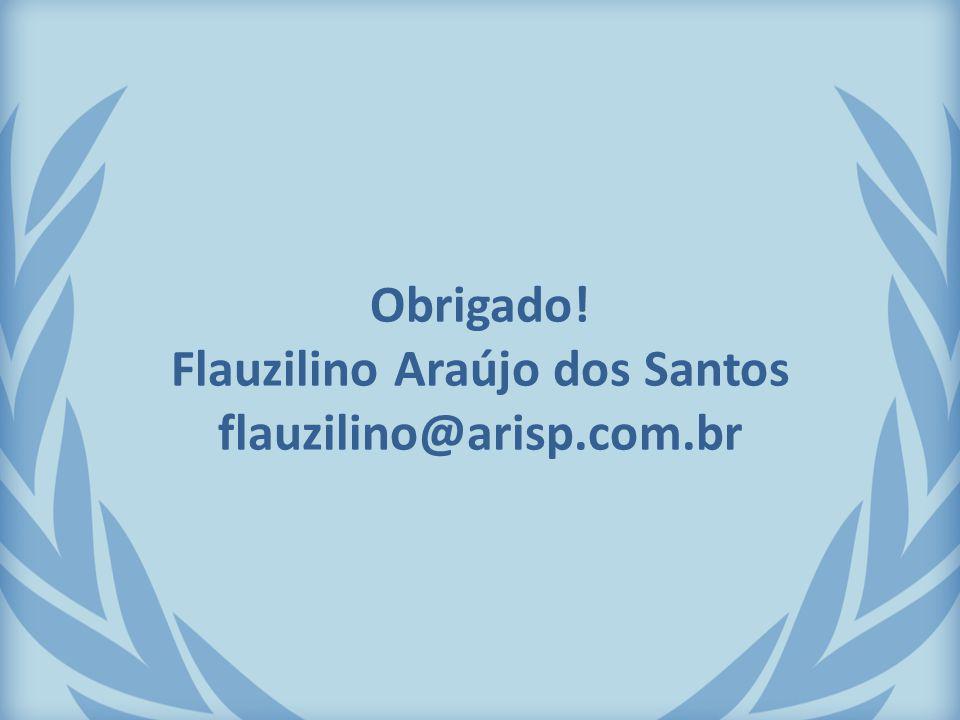 Obrigado! Flauzilino Araújo dos Santos flauzilino@arisp.com.br