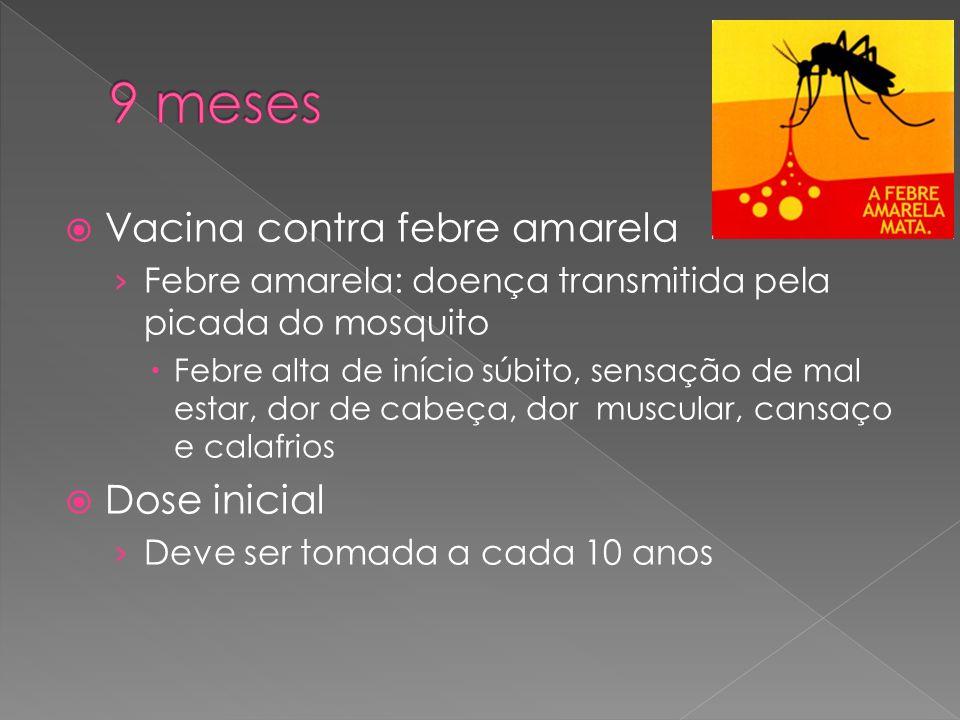  Vacina contra febre amarela › Febre amarela: doença transmitida pela picada do mosquito  Febre alta de início súbito, sensação de mal estar, dor de