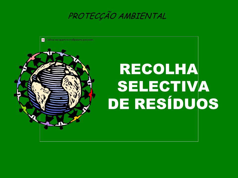 PROTECÇÃO AMBIENTAL RECOLHA SELECTIVA DE RESÍDUOS