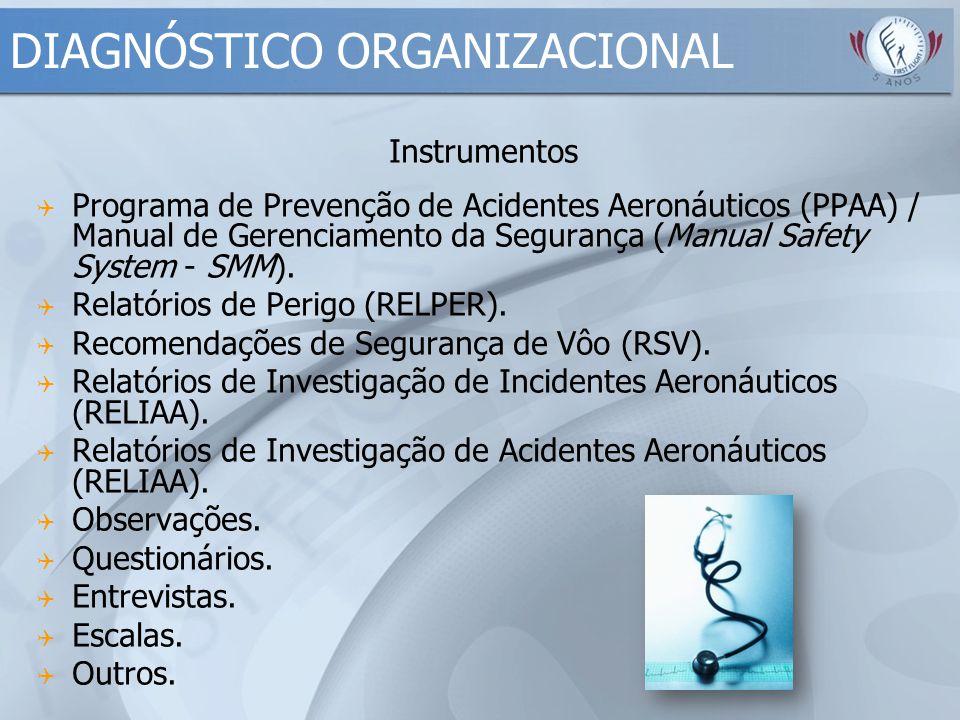 Instrumentos  Programa de Prevenção de Acidentes Aeronáuticos (PPAA) / Manual de Gerenciamento da Segurança (Manual Safety System - SMM).  Relatório