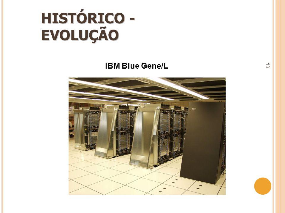 13 HISTÓRICO - EVOLUÇÃO IBM Blue Gene/L
