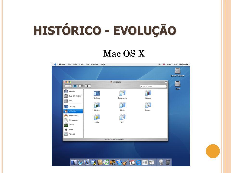 17 HISTÓRICO - EVOLUÇÃO Mac OS X