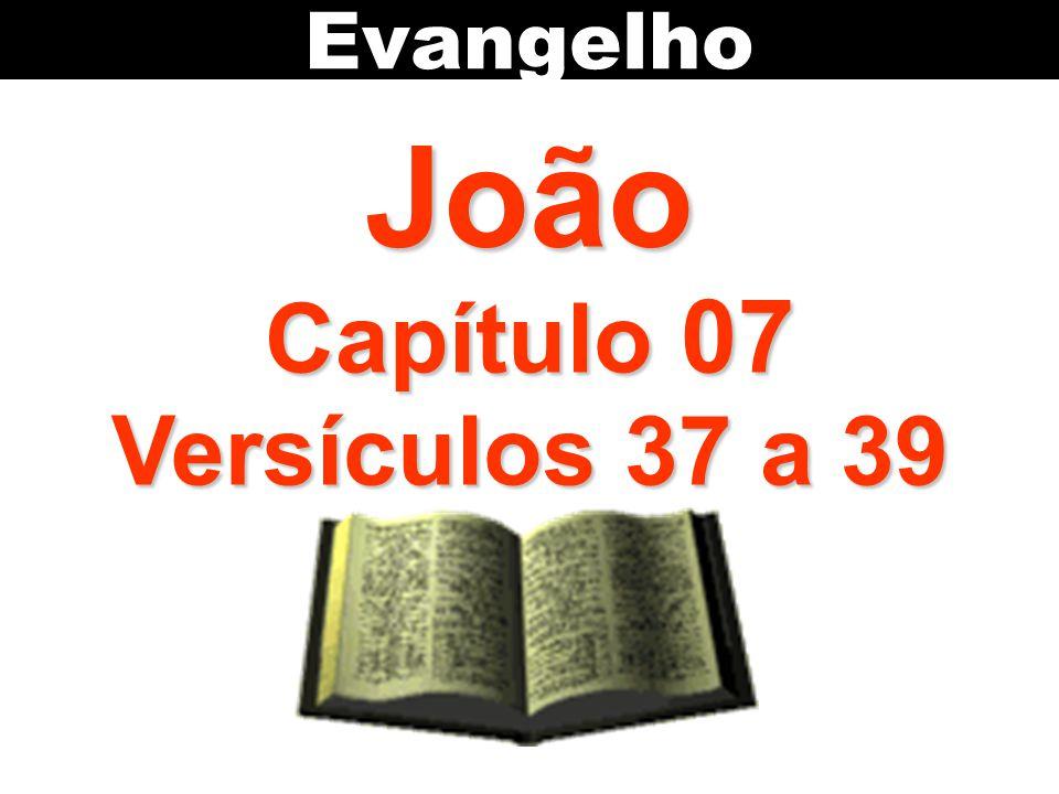 João Capítulo 07 Versículos 37 a 39 Evangelho
