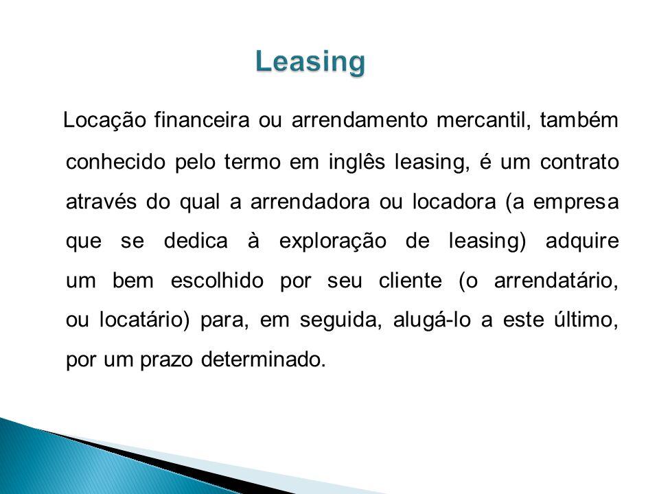 Locação financeira ou arrendamento mercantil, também conhecido pelo termo em inglês leasing, é um contrato através do qual a arrendadora ou locadora (a empresa que se dedica à exploração de leasing) adquire um bem escolhido por seu cliente (o arrendatário, ou locatário) para, em seguida, alugá-lo a este último, por um prazo determinado.