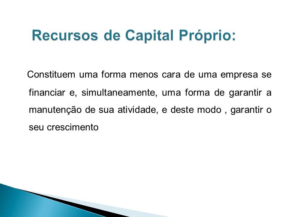 Os Capitais próprios são os capitais da própria empresa, tais como, o capital social reservas, resultados e/ou prestações suplementares.os resultados acumulados retido nas empresa são também denominados de autofinanciamento.