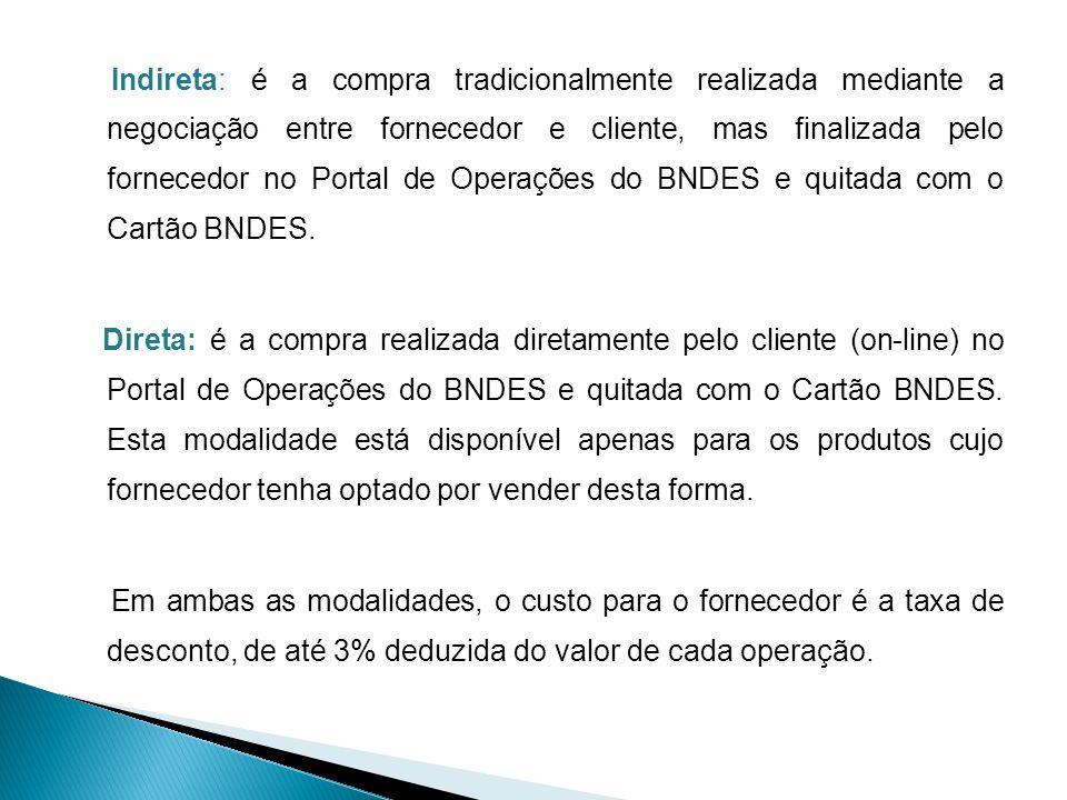 É a instituição financeira autorizada, pelo BACEN, a operar cartão de crédito, aprovada pelo BNDES e responsável pela emissão do Cartão BNDES e pelo risco da operação.
