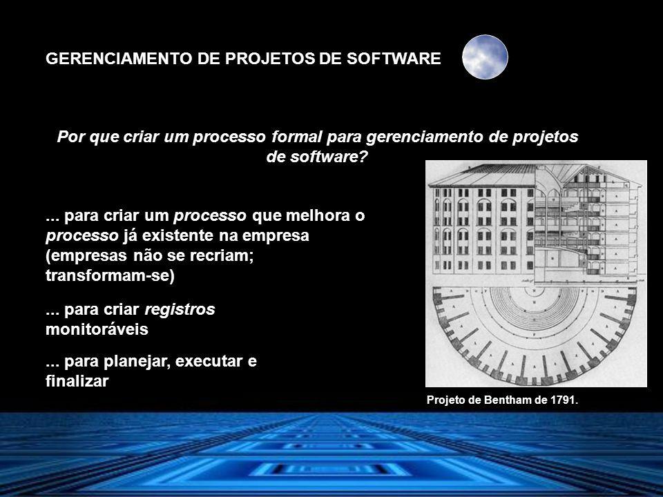 GERENCIAMENTO DE PROJETOS DE SOFTWARE... para criar um processo que melhora o processo já existente na empresa (empresas não se recriam; transformam-s