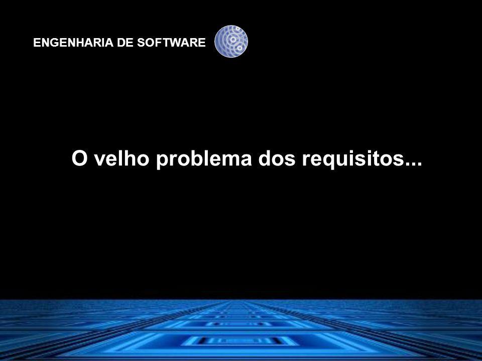 ENGENHARIA DE SOFTWARE Como o cliente explicou o que queria......os clientes não têm conhecimento do jargão técnico.