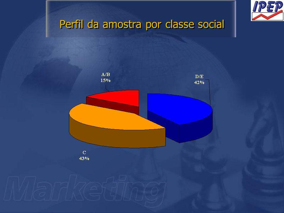 Perfil da amostra por classe social