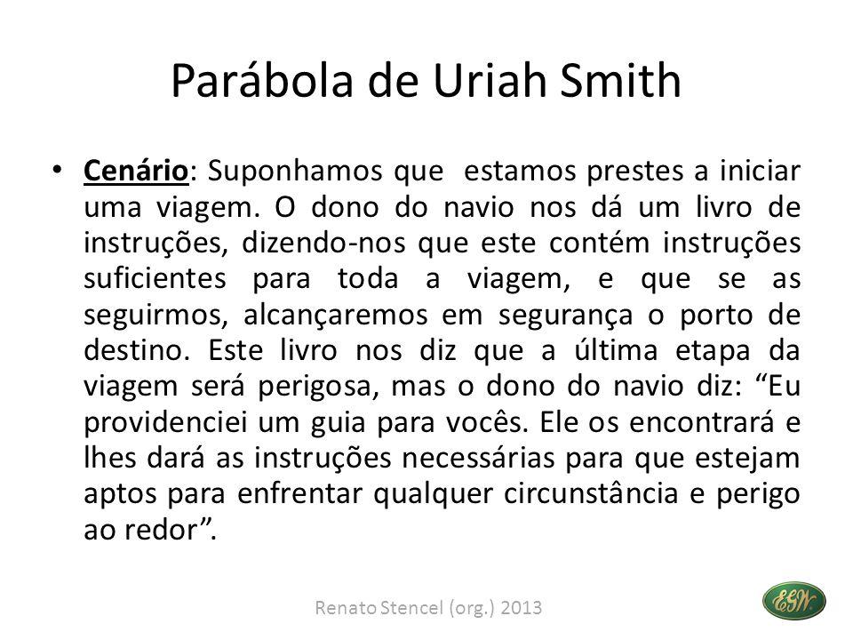 Parábola de Uriah Smith • Ao seguir as instruções alcançamos o perigo no tempo especificado, e o guia então aparece.