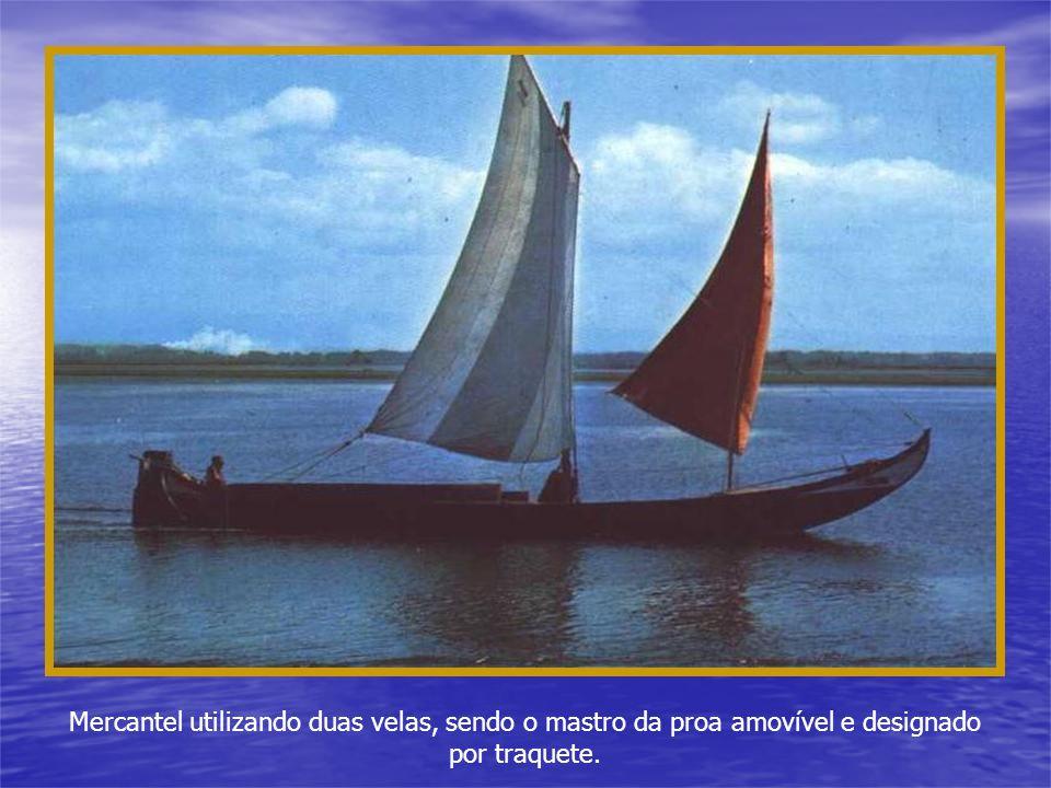 As barcas da Ria, antigamente, navegavam à vela quando tinham vento, com vara quando o fundo da Ria o permitia ou à sirga quando não era possível outr