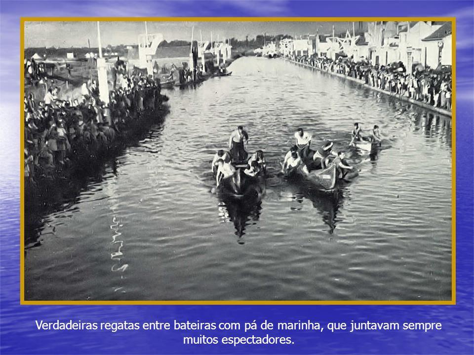 As embarcações de recreio à vela começavam a dar os primeiros passos.