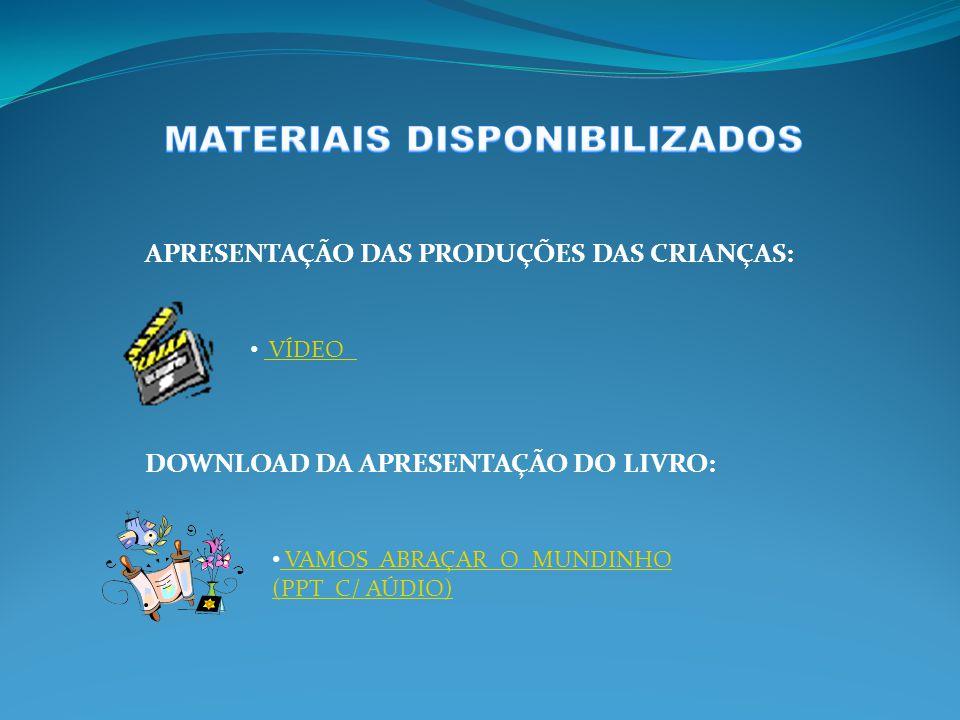 PREFEITURA DO MUNICÍPIO DE SÃO PAULO DIRETORIA REGIONAL DE EDUCAÇÃO DE SANTO AMARO EMEI VIRGÍLIO TÁVORA PARTICIPAÇÃO: CRIANÇAS DO 2° E 3° ESTÁGIO (4 A 6 ANOS) POIE: DANIELA F.