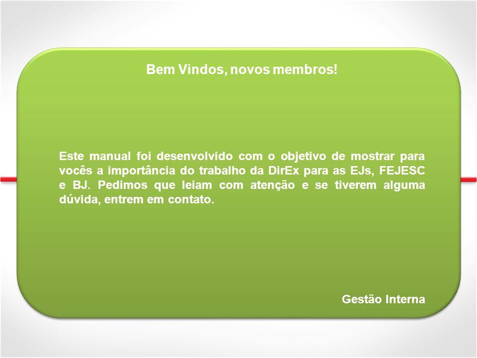 Breve Histórico A FEJESC foi fundada em 1994 Em 2009 e 2010 fomos reconhecidos pela boa participação e opinião crítica do conselho na BJ Em 2008 a DirEx estruturou sua configuração atual De 2007 até 2011 o número de membros da DirEx cresceu mais de 85% A posição de Vice-Presidente foi criada apenas em 2009 Em 2007 a FEJESC pensou em se desfederar da BJ