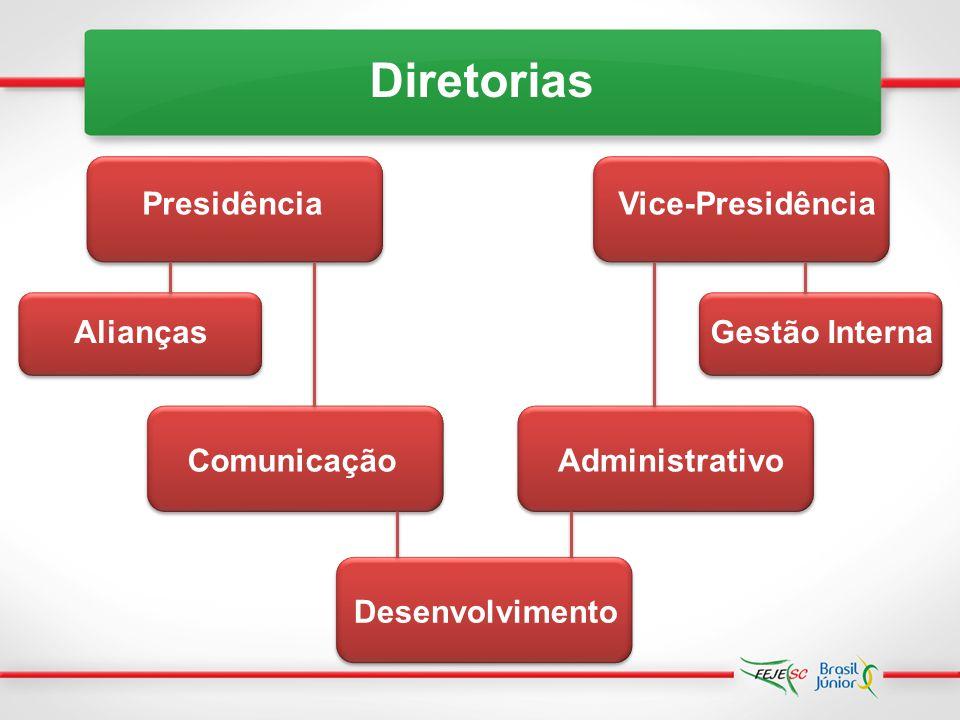 Competências dos membros da DirEx Comprometimento Comunicação Empreendedorismo Foco em resultados Liderança Humildade Pró-atividade Relacionamento Interpessoal Trabalho em equipe
