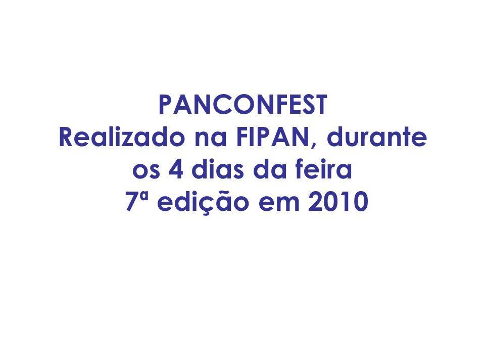 O EVENTO O Panconfest, Festival de Panificação e Confeitaria Profissional, tem como principal objetivo incentivar profissionais do setor ao desenvolvimento de receitas inovadoras, criativas e de fácil comercialização.