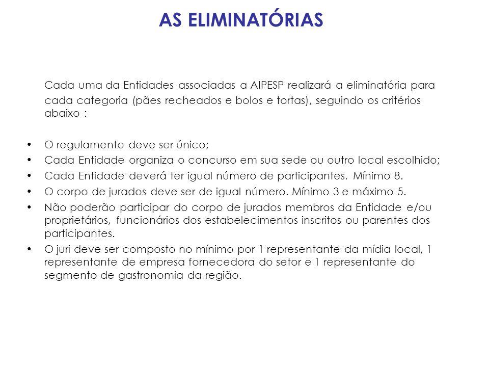 AS ELIMINATÓRIAS •Participam do concurso somente funcionários de estabelecimentos associados.