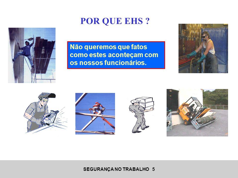 SEGURANÇA NO TRABALHO 16 Os EPIs são recursos empregados para a prevenção de lesões e/ou doenças decorrentes da ocorrência de acidentes ou exposição a agentes agressivos.