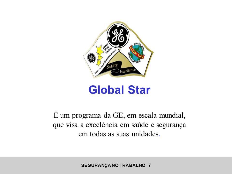 SEGURANÇA NO TRABALHO 7 Global Star É um programa da GE, em escala mundial, que visa a excelência em saúde e segurança em todas as suas unidades.