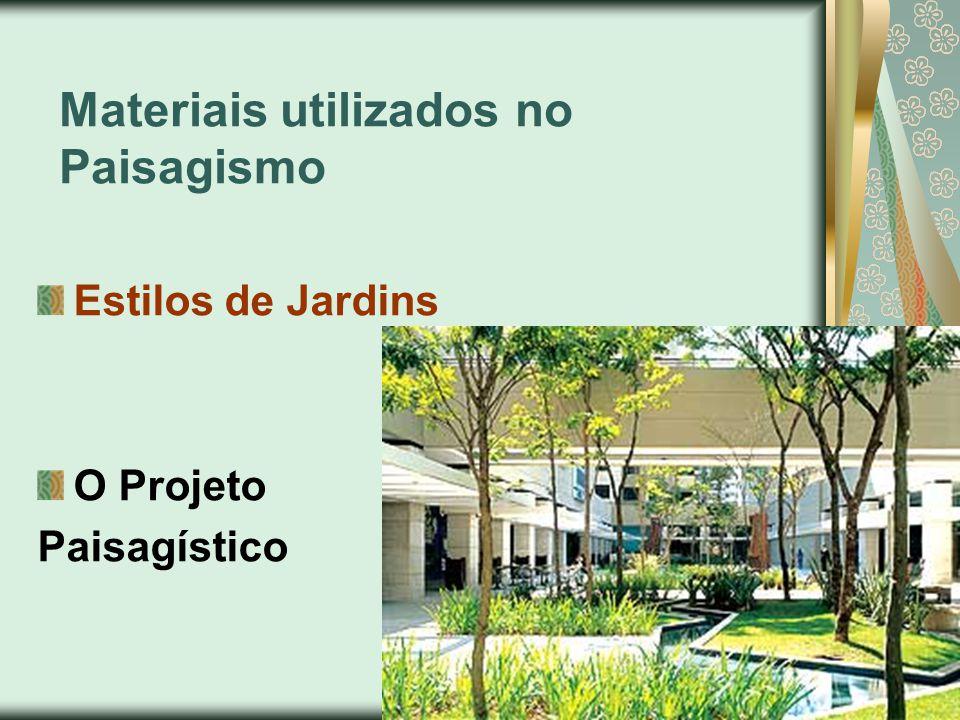 Materiais utilizados no Paisagismo Estilos de Jardins O Projeto Paisagístico