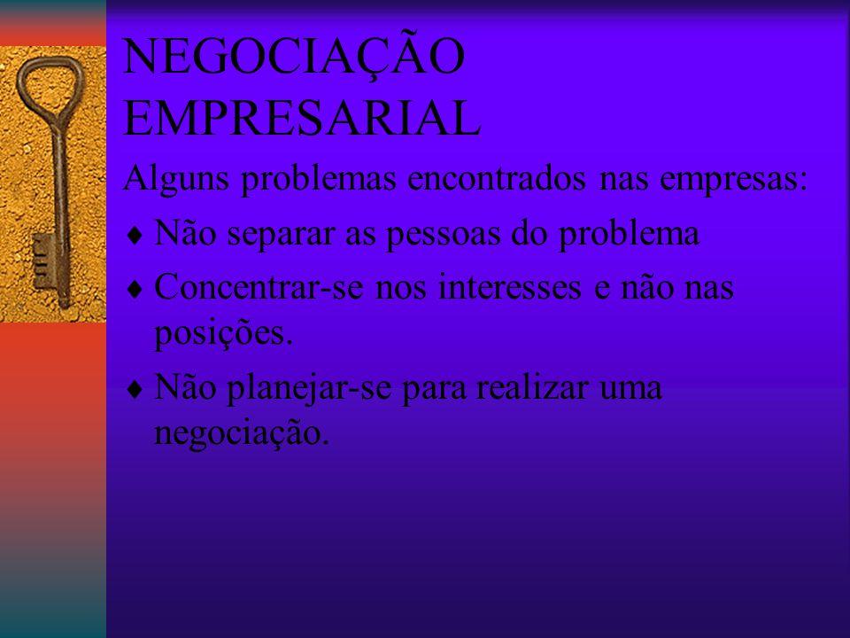 NEGOCIAÇÃO EMPRESARIAL Negociação Racional Segundo Bazerman & Neale negociar racionalmente significa tomar as melhores decisões para maximizar seus interesses .