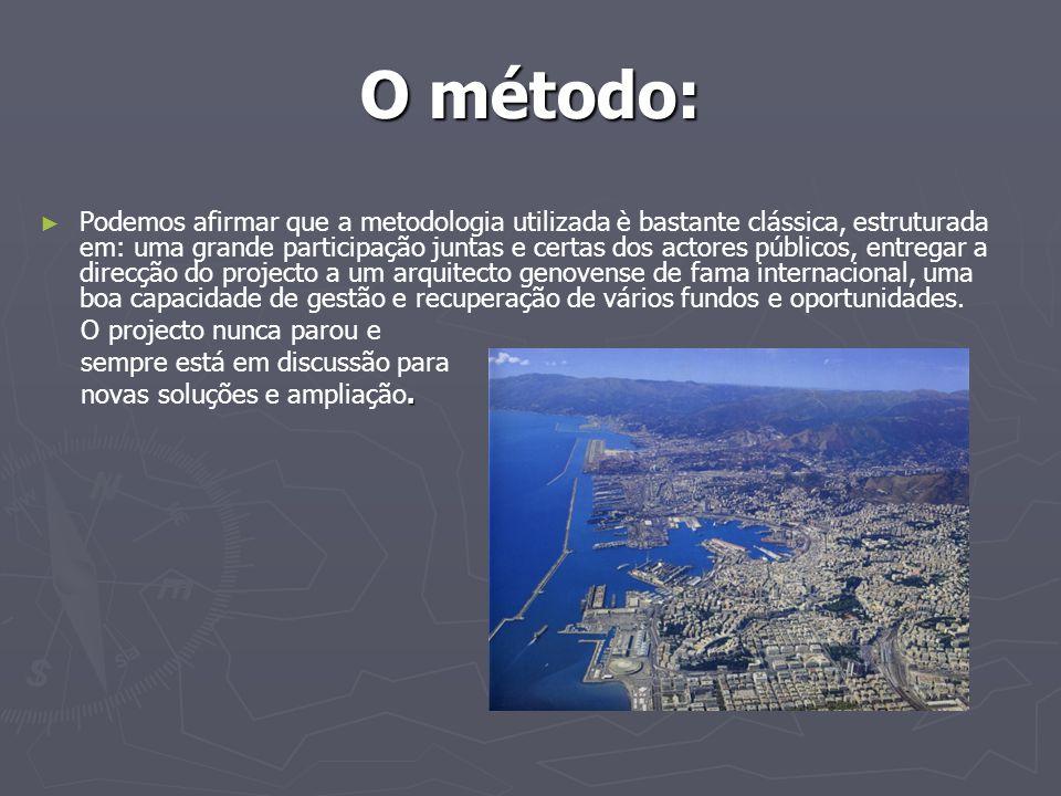 O método: ► ► Podemos afirmar que a metodologia utilizada è bastante clássica, estruturada em: uma grande participação juntas e certas dos actores púb