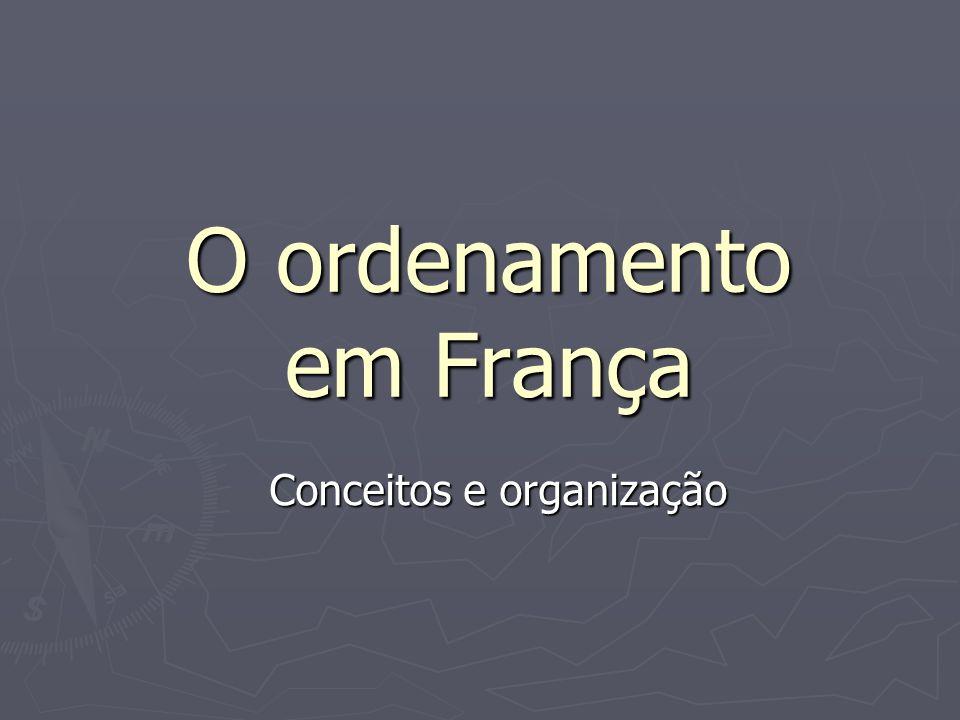 O ordenamento em França Conceitos e organização