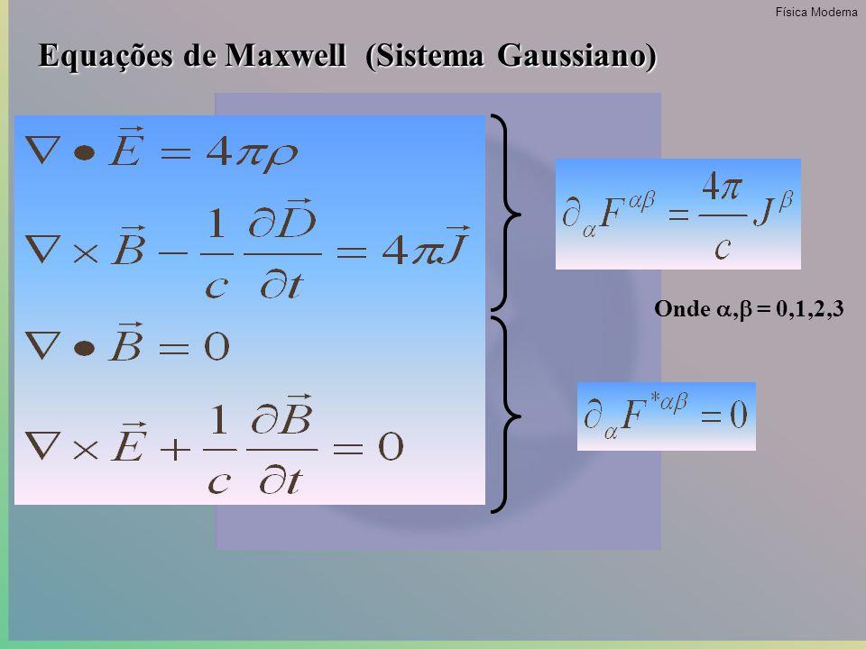 Transformações de Galileu: x'=x-vt y'=y z'=z t'=t Transformações Relativisticas: x'=  (x-vt) y'=y z'=z t'=  (1-  )t Onde:  =1/(1-  ) 1/2 ;  =(v/c) 2 ; c - velocidade da luz no vácuo.